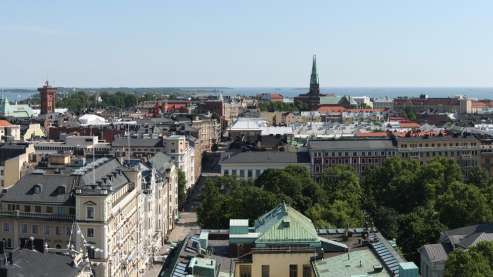 Helsinki manzarası