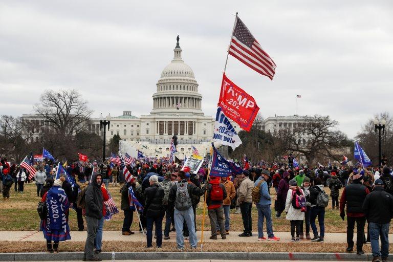 Una protesta pro Trump en Washington