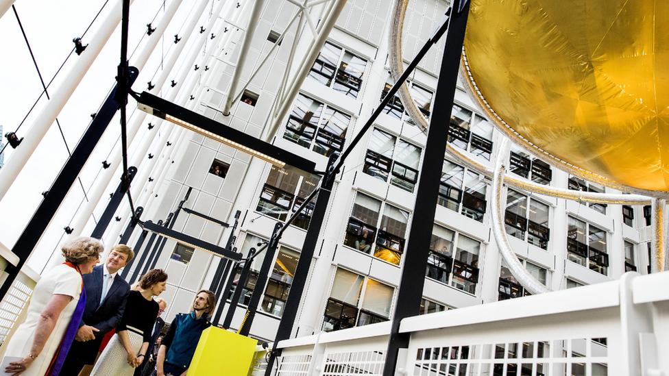 Dutch King Willem-Alexander opens new ministry complex, The Hague, November 2017
