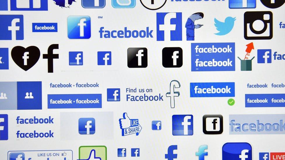 Various online and social media logos