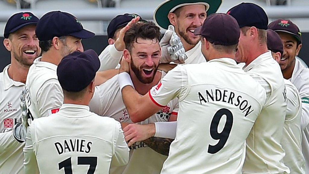 Lancs collapse after Clark hat-trick in crazy Roses match