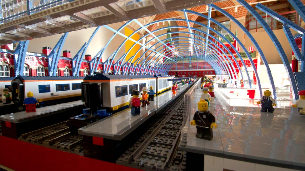 Inside the Lego St Pancras Station