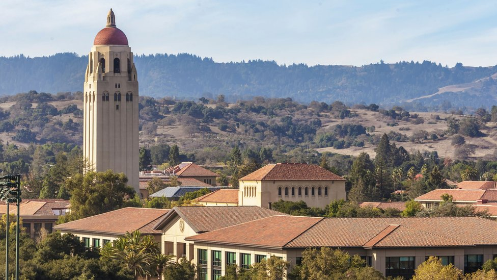Stanford University's campus is less than 20 minutes' drive from Facebook's headquarters