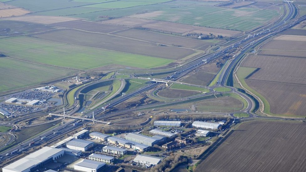 Section of the A14 in Cambridgeshire