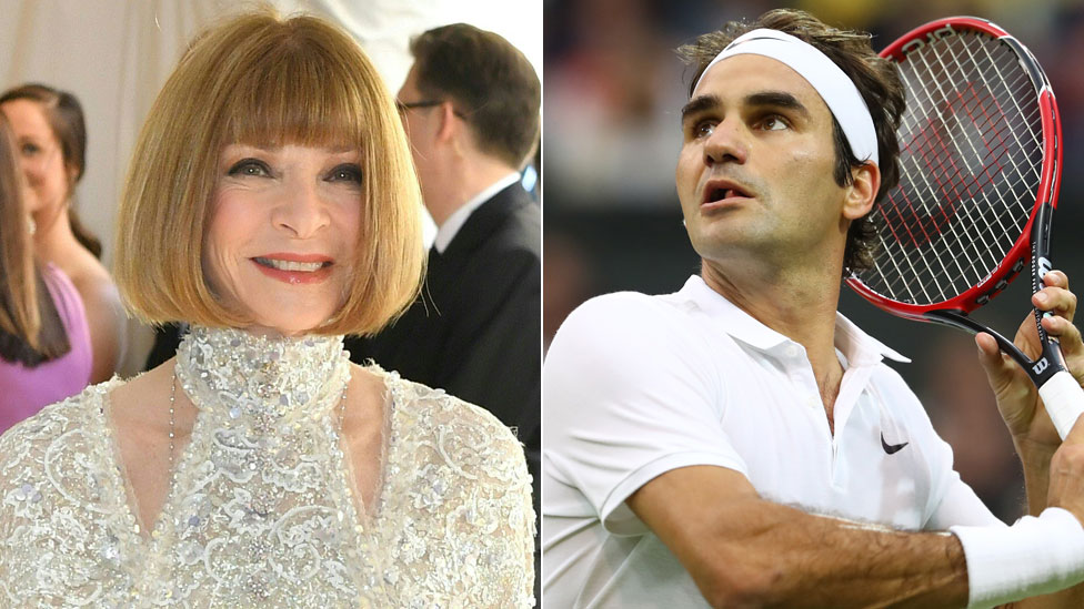 Anna Wintour and Roger Federer
