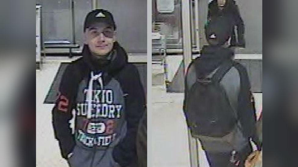 CCTV image of Sam Mechelewski