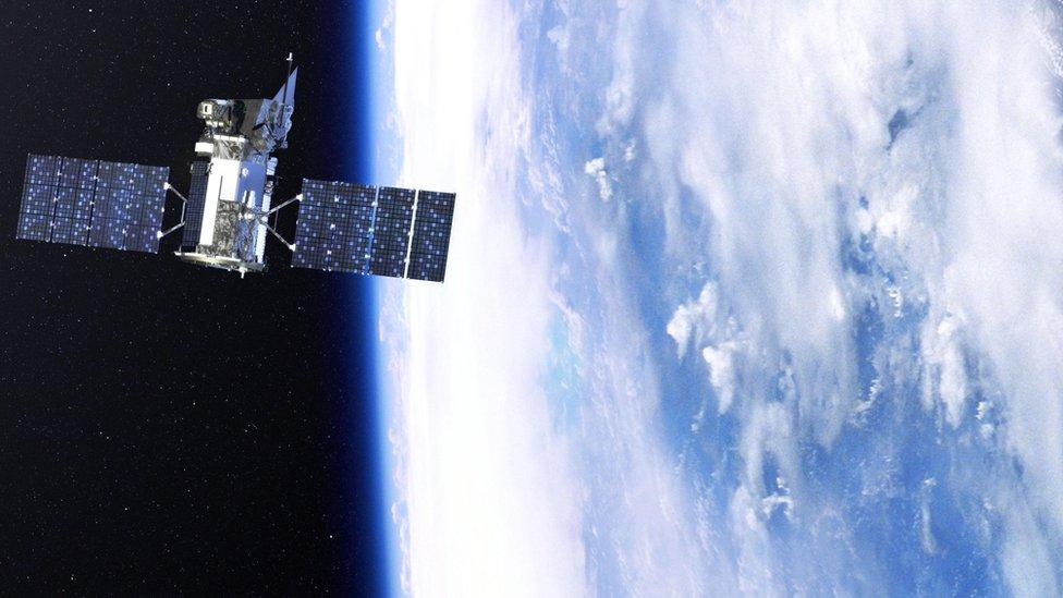 Ilustración de lo que sería el satélite Glory