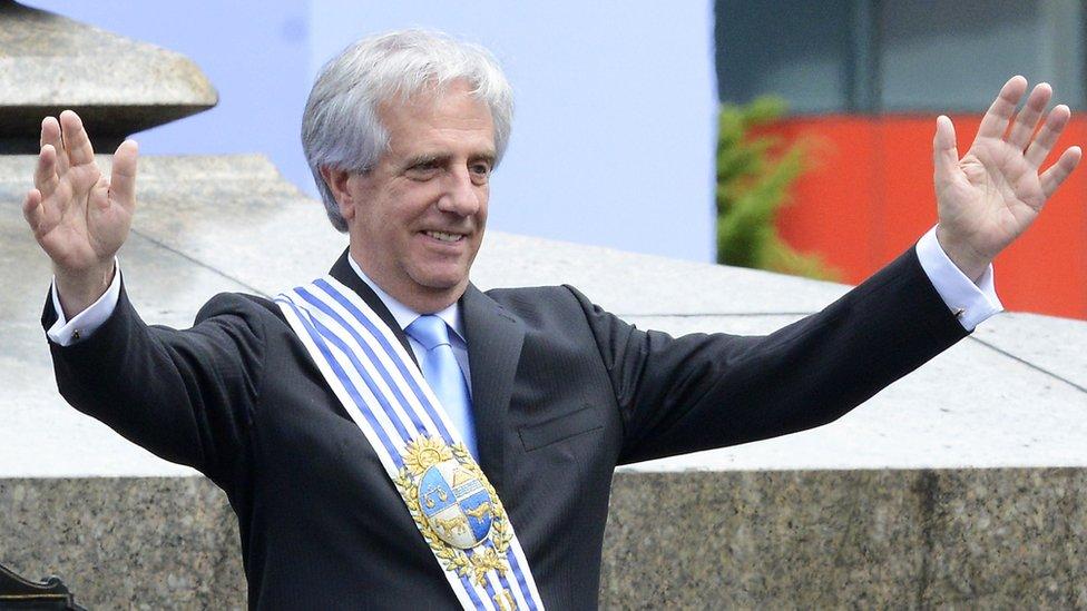Uruguay's President Tabare Vazquez