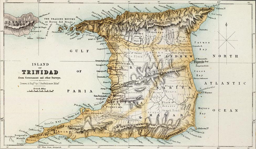 Mapa de Trinidad (1872)