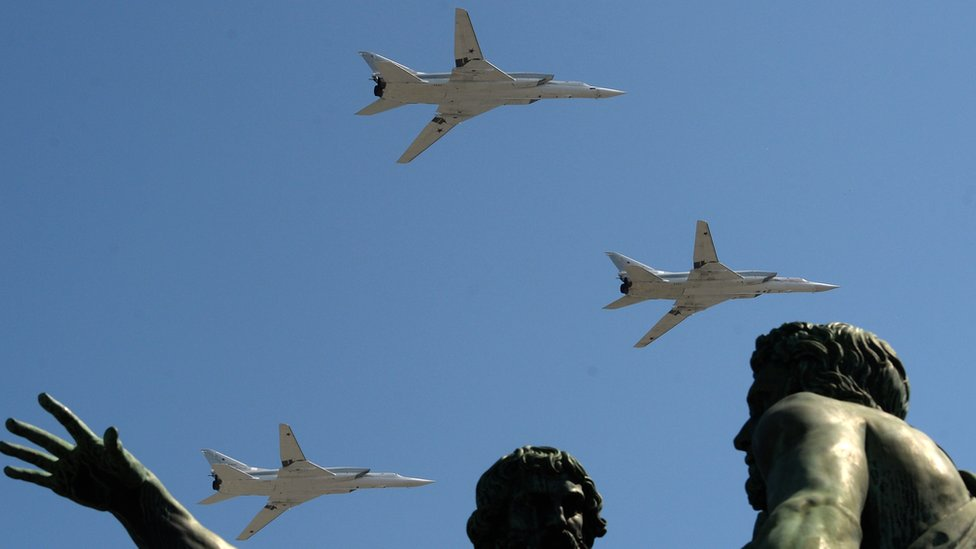 Tupolev Tu-22M3 Backfire strategic bombers, 9 May 16