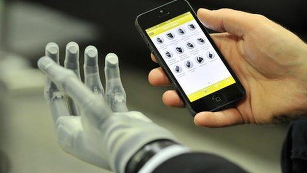 Bionic hand and phone