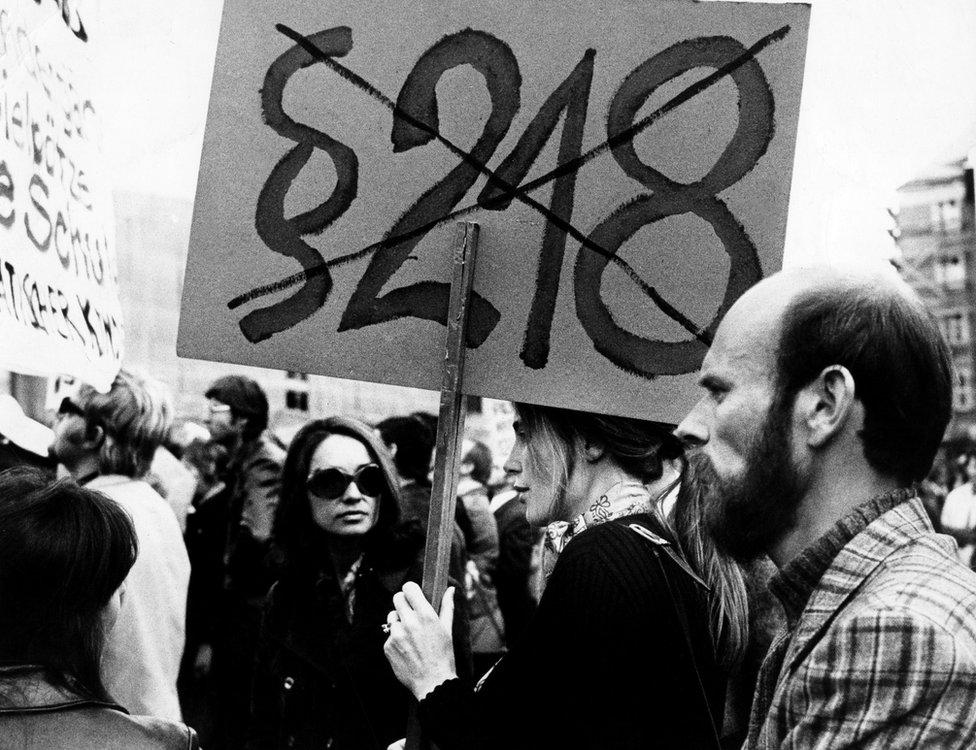 Protesta contra la ley que penaliza el aborto en Munich, 1972