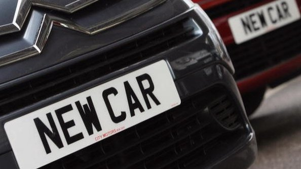 New car number plate