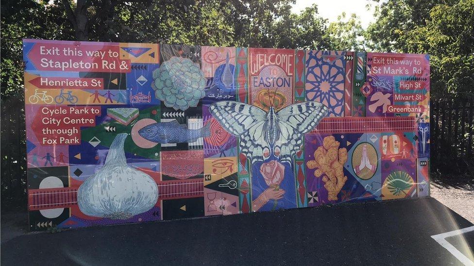 Easton mural -artwork by Anna Higgie