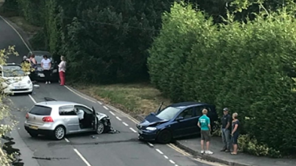 Tunbridge Wells crash scene