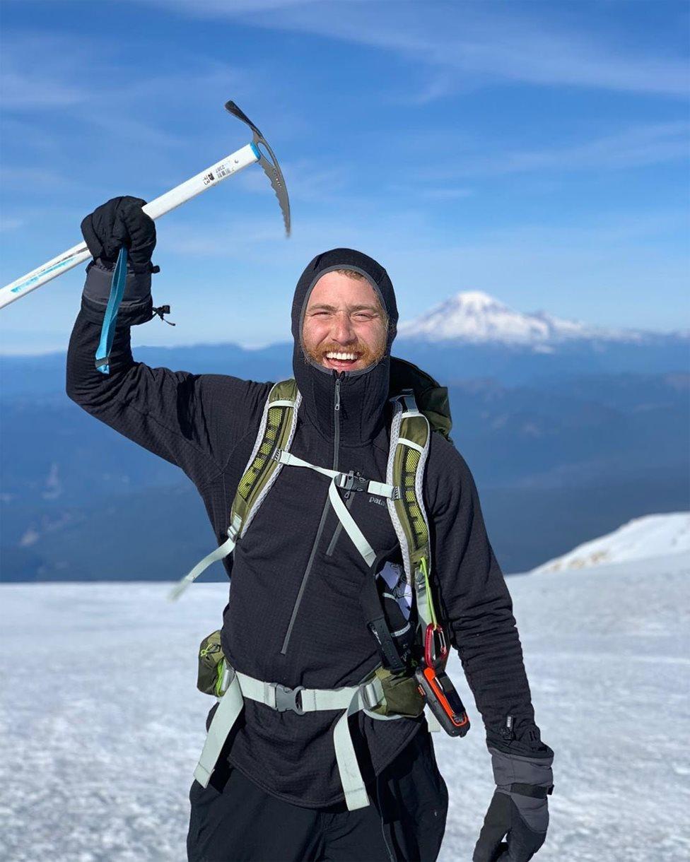 Mike Posner on Mt Adam