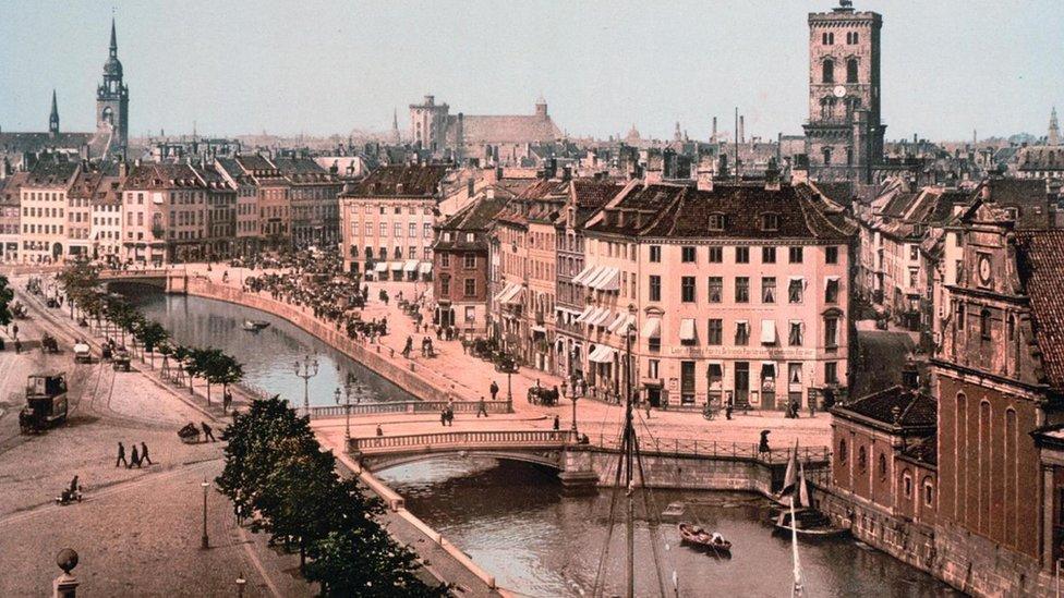Stock photos from Copenhagen in 1918.