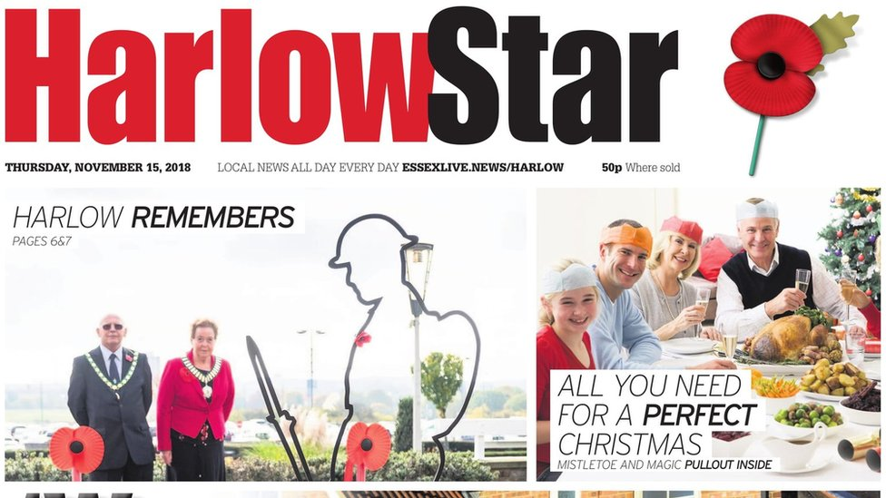 Harlow Star and three other newspapers to close