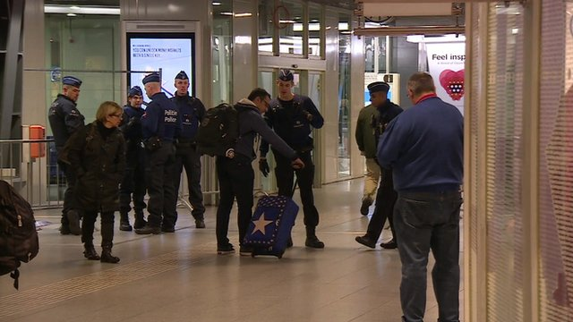 Heightened security by the Belgian Army
