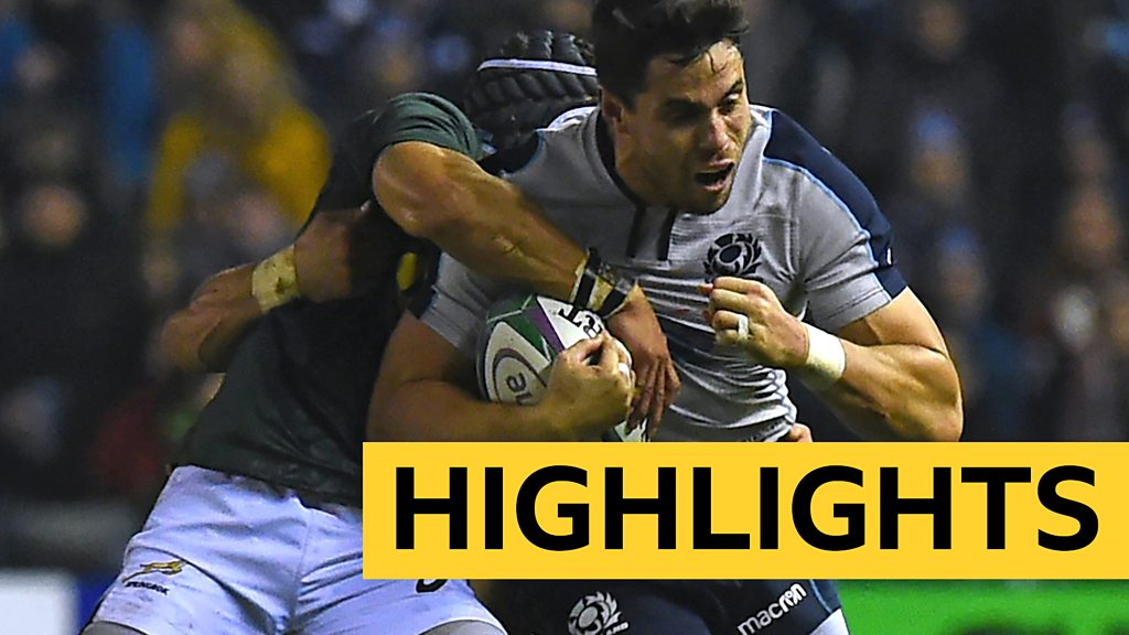 Scotland 20-26 South Africa: South Africa edge out Scotland in Murrayfield thriller