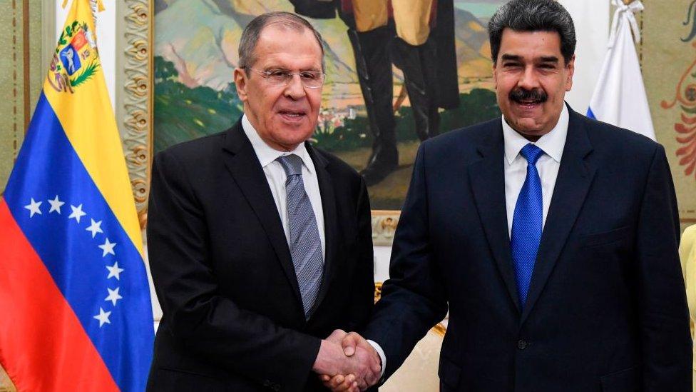 Lavrov con Maduro.