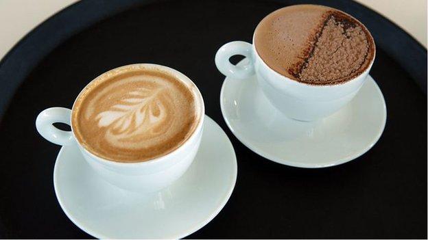 你能分辨出拿鐵咖啡和摩卡咖啡嗎?