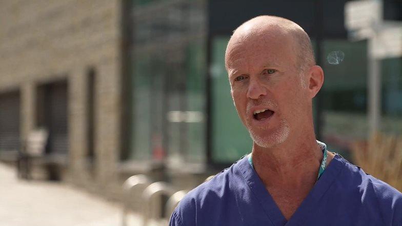 Ed Moran, médico do Southmed Hospital