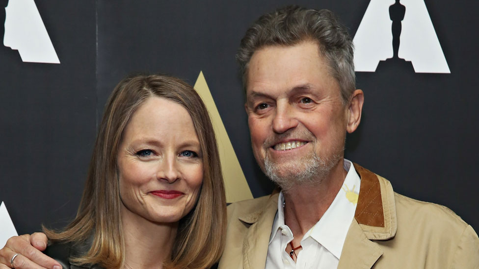 Jonathan Demme with Jodie Foster