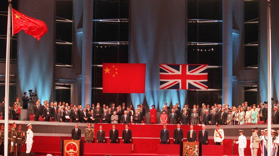 Hong Kong's handover ceremony