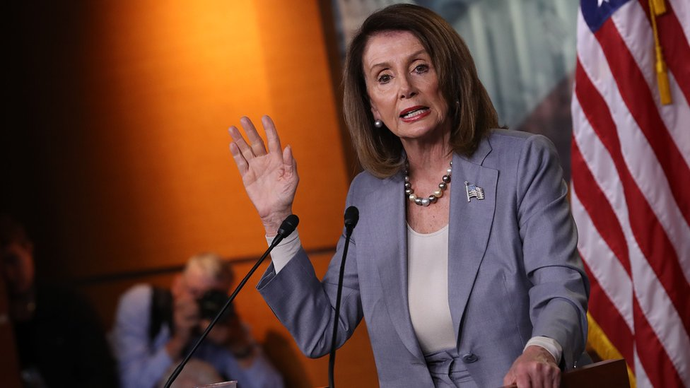 House Speaker Nancy Pelosi at a press conference