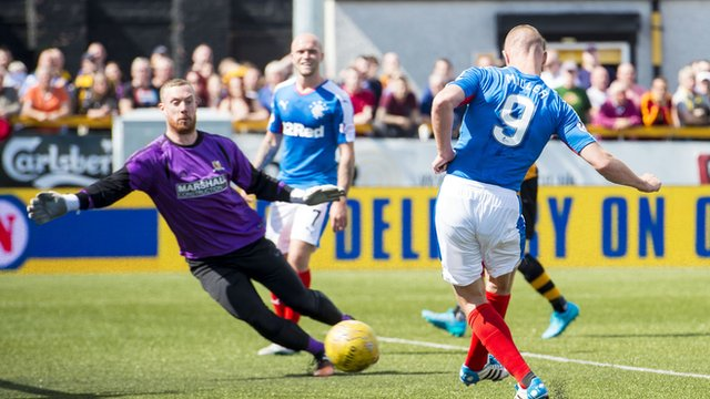 Kenny Miller scores for Rangers against Alloa Athletic