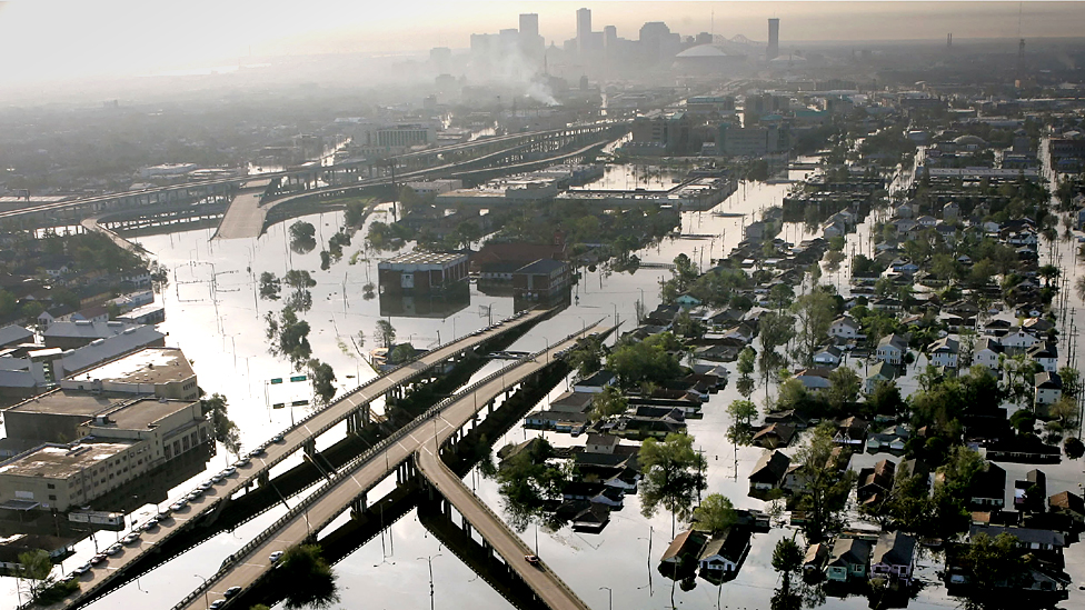 New Orleans after Hurricane Katrina 2005