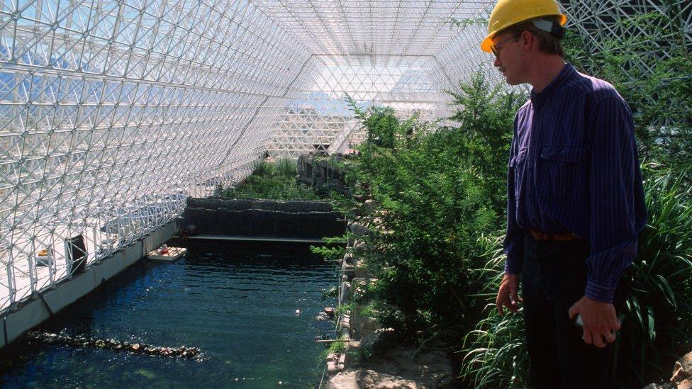Interior del edificio principal de Biosfera 2.