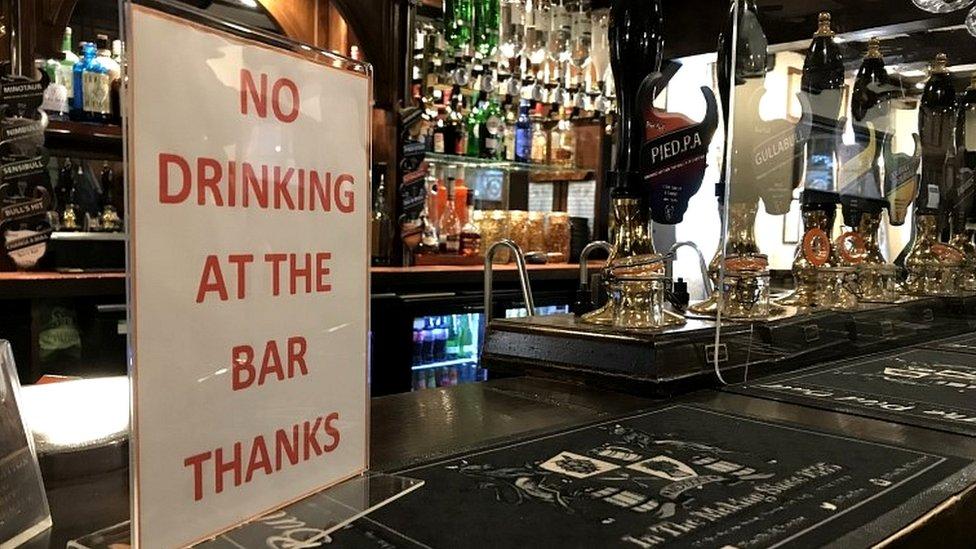 Sign at pub