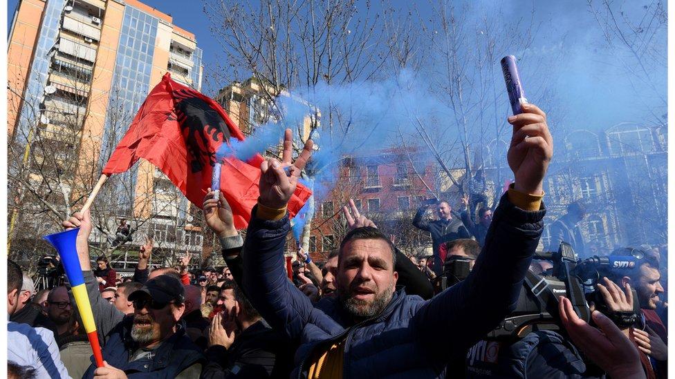 Protest opozicije Tirana, 21.