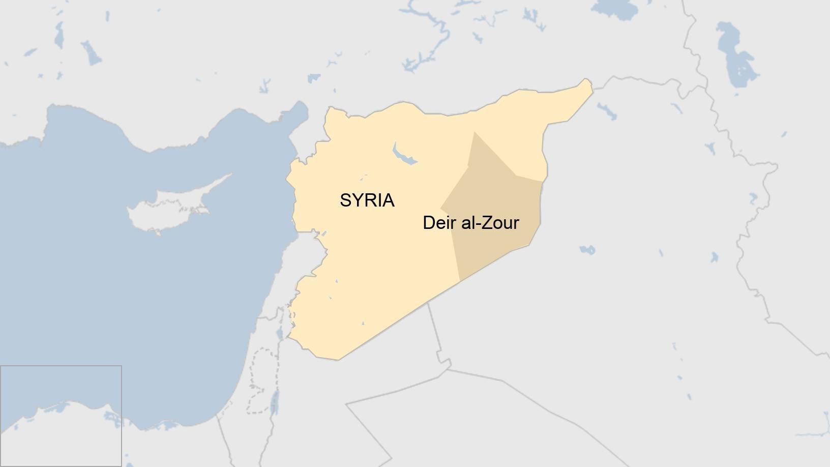 Peta Suriah timur laut