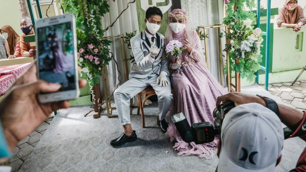 Fotos de boda de una pareja