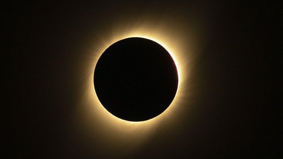 صورة لكسوف الشمس في تشيلي - 2 يوليو/تموز 2019
