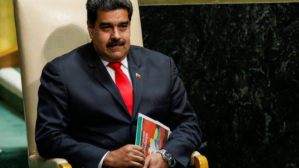 Nicolás Maduro esperando tu turno de dar un discurso en la Asamblea General de Naciones Unidas.