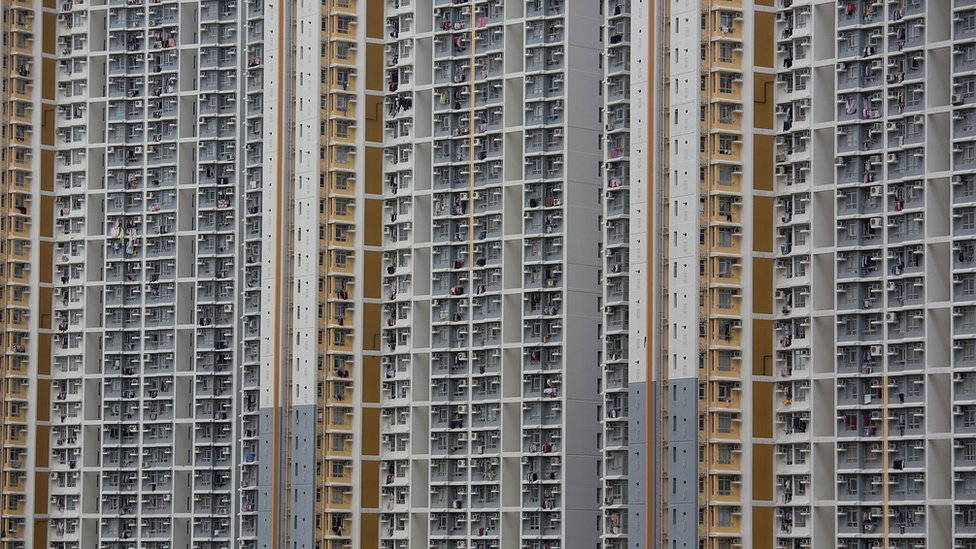 A view of a public housing estate in Choi Hung on February 19, 2013 in Hong Kong.