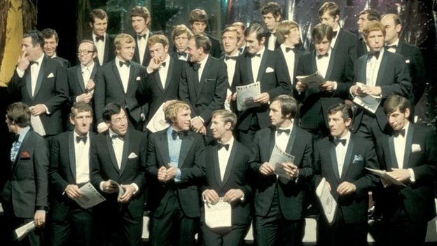 England 1970 World Cup squad on Top of the Pops