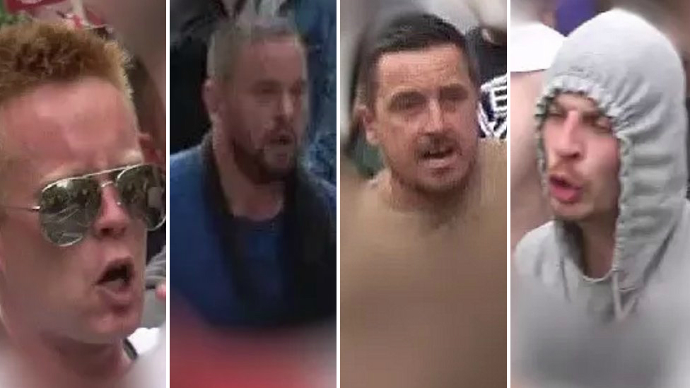 Images released after 'Free Tommy Robinson' march violence