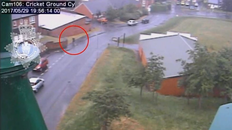 A man was captured on CCTV running from the scene of the murder