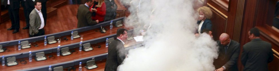 Opposition MP throws tear gas on 23 October