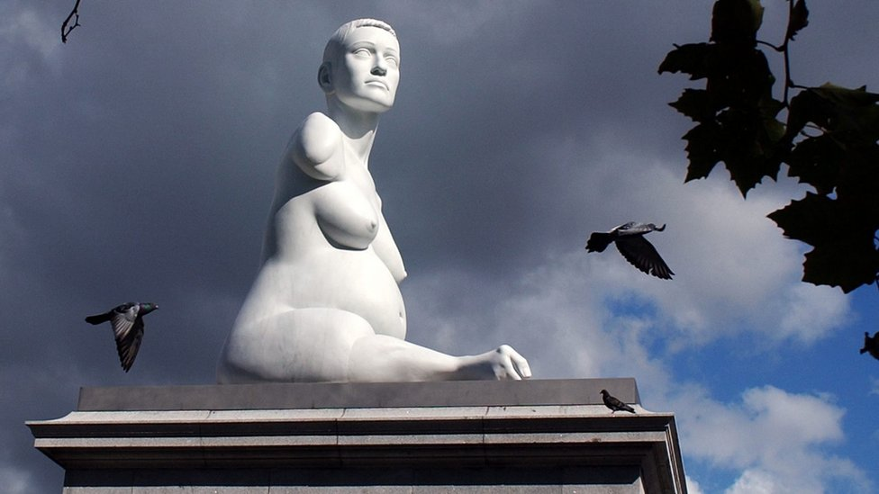 The marble sculpture of Alison Lapper by Marc Quinn stood in Trafalgar Square between 2005 and 2007