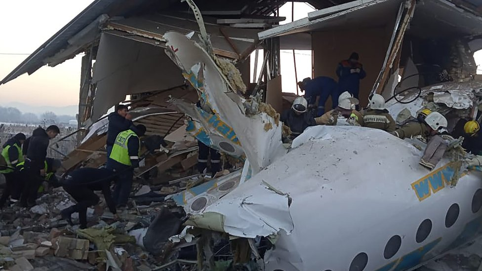 Avión accidentado
