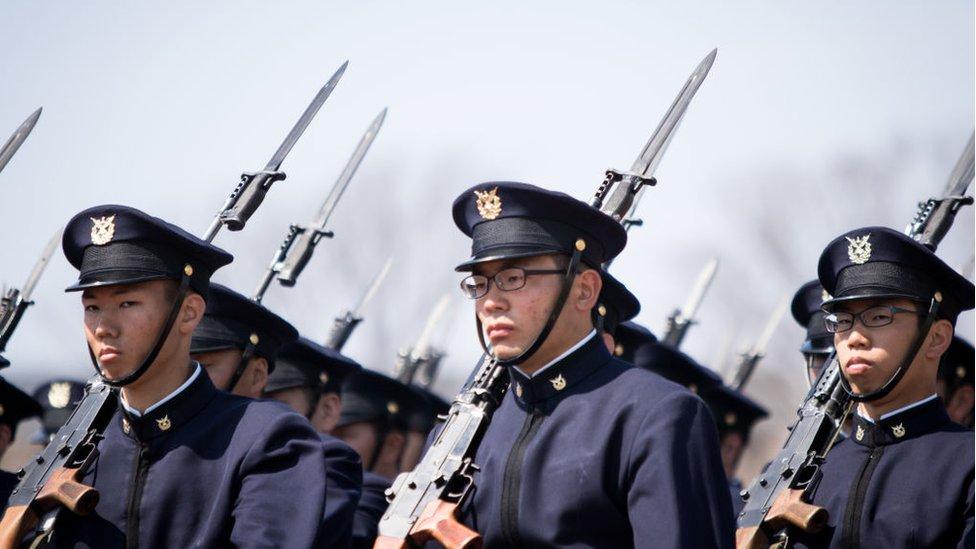 El juego se ha desarrollado principalmente dentro de la Academia Nacional de Defensa de Japón.
