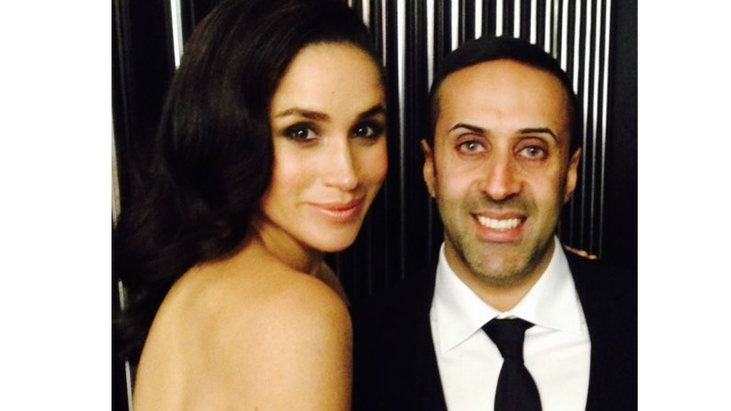 Manni Hussain with Meghan Markle