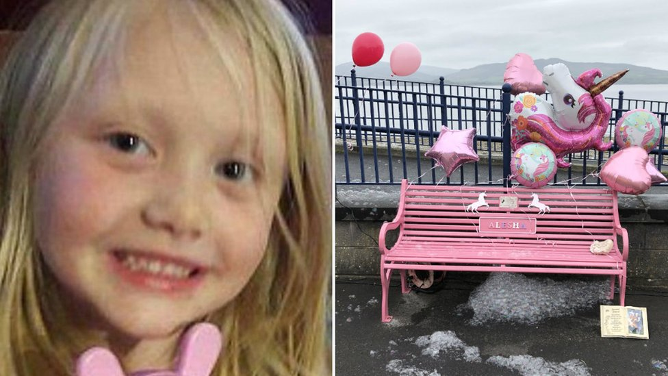 Alesha MacPhail's father unveils tribute on Isle of Bute