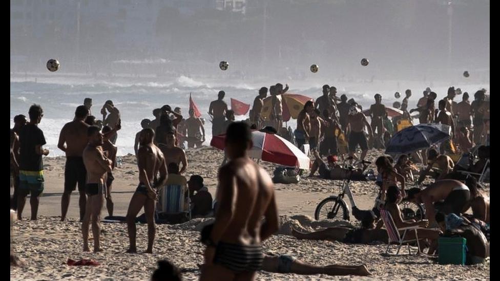 Praia no Rio em 3 de setembro